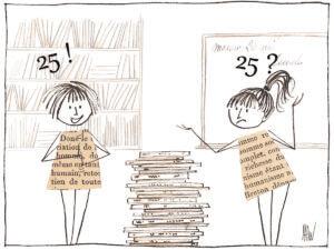 Si c'est juste pour prendre des livres, je peux le faire sans mes élèves.