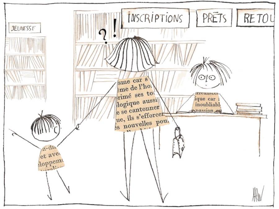 La bibliothèque, je n'y ai pas droit.