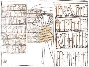 Les murs de livres, ça nous donne le tournis !